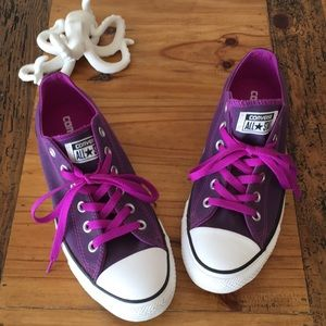 Purple Converse All Star Low Top size 9